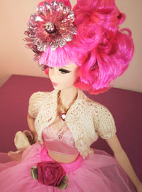 Barbie with pink hair