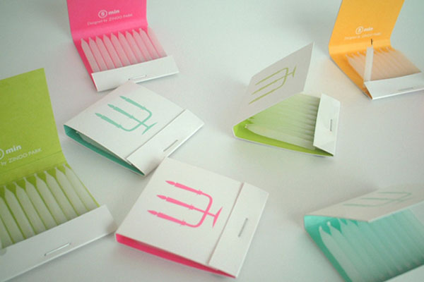 Matchbox candles via Designmag.com