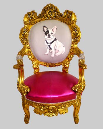 Pink Nicholas dog chair by UK Design Firm Jimmie Martin