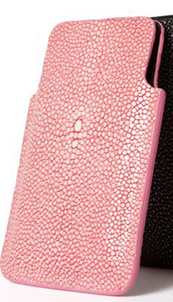 Pink Shagreen Iphone case by Galerie Galuchat