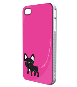 Pink Frenchie iPhone case