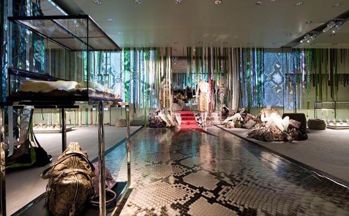 Python Flooring in Prada Paris Store