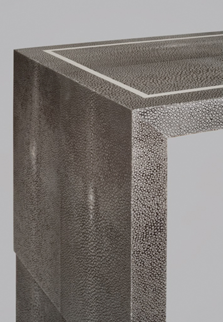 Gray Shagreen Console Table by Atelier Viollet