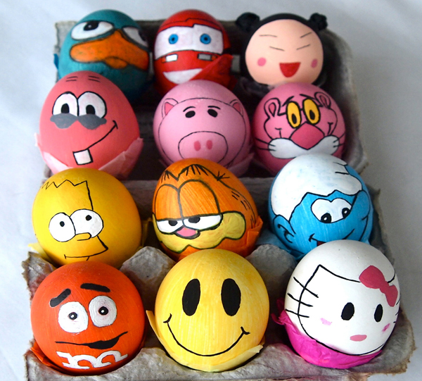 Cartoon character Easter eggs